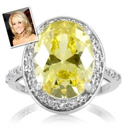 Carrie Underwood Inspired Canary Wedding Ring