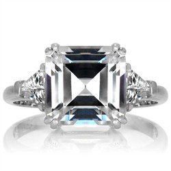 marthas engagement ring 3 stone asscher cut cz